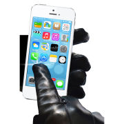 Touchies Leather Touchscreen Gloves - Large - Black