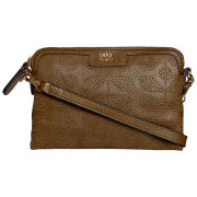 Orla Kiely Women's Sixties Stem Punched Leather Poppy Bag - Olive