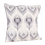 Malini Feather Embroid On Faux Linen Cushion