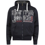 Smith and Jones Men's Forax Borg Lined Zip Through Hoody - Navy