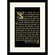 Game of Thrones Season 3 Nightwatch Oath Framed and Mounted Print (30x40)