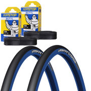 Schwalbe Lugano Clincher Road Tyre Twin Pack with 2 Free Inner Tubes - Black 700c x 23mm