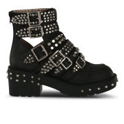 Jeffrey Campbell Women's Studded Colburn Leather Boots - Black