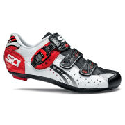 Sidi Genius 5 Fit Carbon Cycling Shoes - White/Black/Red 2014