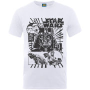 Star Wars Men's T-Shirt - Distressed - White