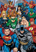 DC Comics Collage - Metallic Poster - 47 x 67cm