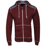 Conspiracy Men's Brett Zip Through Hoody - Burgundy