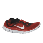 Nike Men's Free Flyknit + Running Shoes - Red