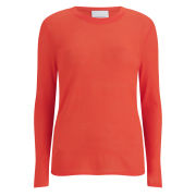 Samsoe & Samsoe Women's Bow O-Neck Top - Cherry Tomato