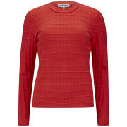 Opening Ceremony Women's Waffle Jumper - Burnt Red Multi