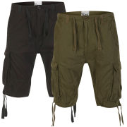 55 Soul Men's 2-Pack Spirit Shorts - Black/Khaki