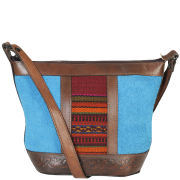 Beara Beara Maria Leather Shoulder Bag - Bright Blue