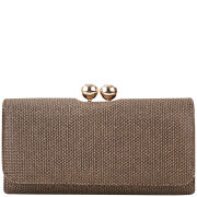 Ted Baker Women's Rorli Metallic Weave TB Matinee Leather Purse - Bronze
