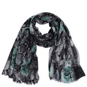 Codello Women's Winter Wonderland Snake in Colours Scarf - Turquoise