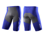 2XU Men's G:2 Compression Triathlon Shorts - Nautic Blue/Charcoal