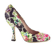 Vivienne Westwood Women's Almond Toe Floral Court Shoes - Multi