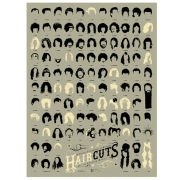 Haircuts of Hollywood Art Print by Pop Chart Lab
