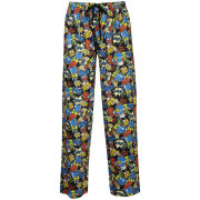 Homer Simpson Men's Printed Loungepant - Black