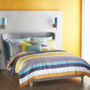 Harlequin Bali Stripe Pillowcase - Charcoal