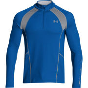 Under Armour Men's Cold Gear Infrared Thermo 1/4 Zip Top - Scatter/Blue