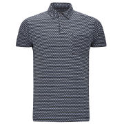 French Connection Men's Cube Jersey Polo Shirt - Flintstone