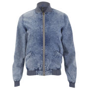 Influence Women's Denim Bomber Jacket - Blue