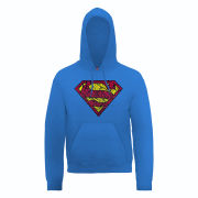 DC Comics Hoody Superman Shatter Logo - Royal Blue