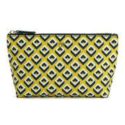 Diane von Furstenberg Women's Heritage Print Nylon Small Cosmetic Pouch - Yellow