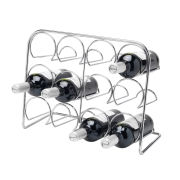 Hahn Pisa Wine Rack 12 Bottle - Chrome