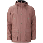 Farah 1920s Men's Hooded Coat - Clay
