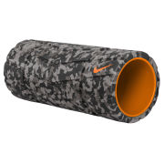 Nike Textured 13 Inch Foam Roller - Grey/Black/Bright Citrus