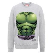 Marvel Avengers Assemble Hulk Chest Burst Men's Sweatshirt - Heather Grey