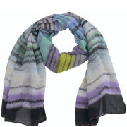 Codello Women's Winter Wonderland Shaded Stripes Waterwashed Scarf - Lilac