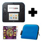 Nintendo 2DS Black & Blue Console: Bundle includes Professor Layton & The Miracle Mask