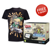 The Legend of Zelda: The Wind Waker HD Wii U Premium Pack with FREE Mens T-shirt (Black - Small)