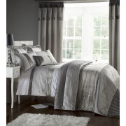 Catherine Lansfield Gatsby Pillowcase - Pair - Silver