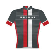 Primal Exion Helix Short Sleeve Jersey - Grey/White/Red