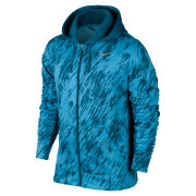 Nike Men's KO Print Full Zip Hoody - Vivid Blue