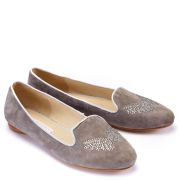 Style Snob Women's Lauren Slipper Shoes - Mud Grey
