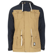 Crosshatch Men's Talents Colour Block Jacket - Tobacco