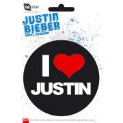 Justin Bieber I Love - Vinyl Sticker - 10 x 15cm