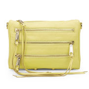 Rebecca Minkoff Women's Mini 5 Zip Leather Cross Body Bag - Pale Yellow