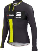 Sportful Gruppetto Men's Long Sleeved Thermal Jersey - Anthracite/Black/Yellow Fluo