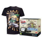 The Legend of Zelda: The Wind Waker HD Wii U Premium Pack with FREE Mens T-shirt (Black - Large)