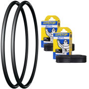 Michelin Pro 4 Grip Clincher Road Tyre Twin Pack with 2 Free Inner Tubes - 700c x 23mm
