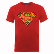 DC Comics Men's T-Shirt - Superman Wild Logo - Red