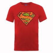 DC Comics Men's T-Shirt Superman Wild Logo - Red