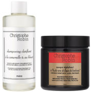 Christophe Robin Regenerating Mask with Rare Prickly Pear Seed Oil (250ml) and Clarifying Shampoo with Camomile and Cornflower (250ml)