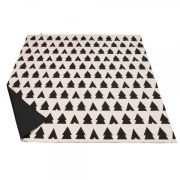 Anorak Trees and Tents Picnic Blanket - Black/Blush White
