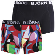 Bjorn Borg Men's 2-Pack Boxers Paper Art - True Red